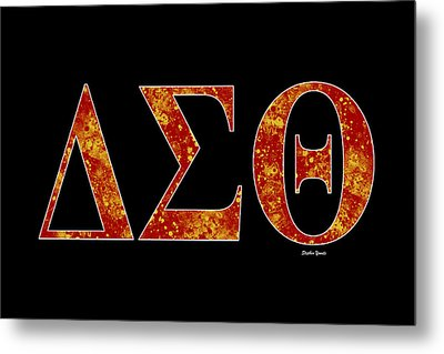 Delta Sigma Theta - Black Metal Print by Stephen Younts