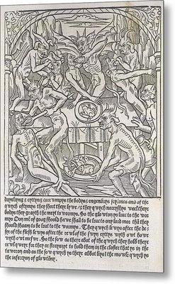 Demons Force Feeding People Metal Print by British Library