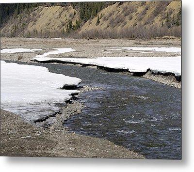 Denali Area River  Metal Print by Tara Lynn