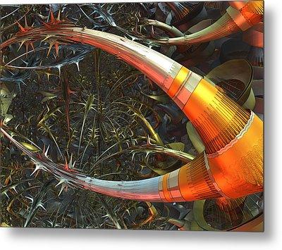 Dendrite Factory #9 Metal Print by Jeff Iverson