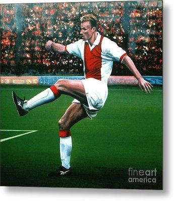 Dennis Bergkamp Ajax Metal Print by Paul Meijering