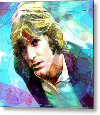 Dennis Wilson - Pacific Ocean Blue Metal Print by David Lloyd Glover
