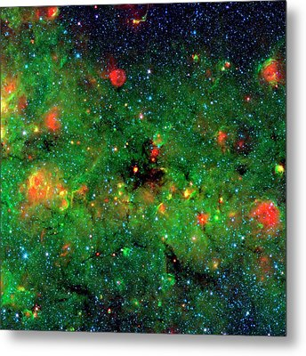 Dense Dust In Galactic Plane Metal Print by Nasa/jpl-caltech/univeristy Of Zurich