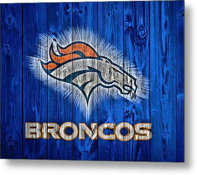 Denver Broncos Barn Door Metal Print by Dan Sproul