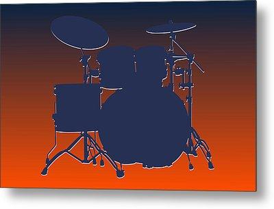 Denver Broncos Drum Set Metal Print by Joe Hamilton