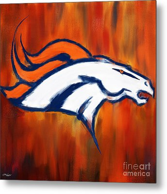 Denver Broncos Metal Print by Lourry Legarde