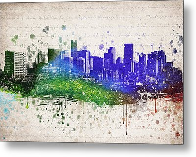 Denver In Color Metal Print by Aged Pixel