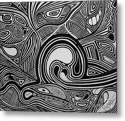 Depth1 Metal Print by Andres Carbo