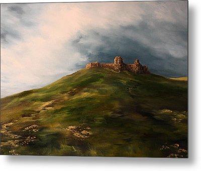Deralict Chartley Castle Staffordshire Metal Print by Jean Walker