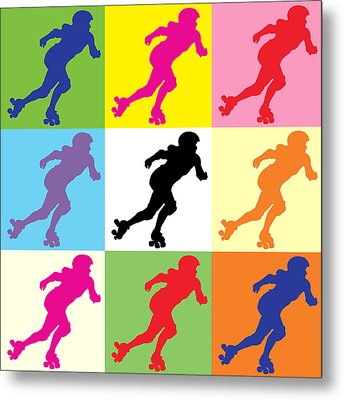 Derby Girl Pop Art Metal Print by David G Paul