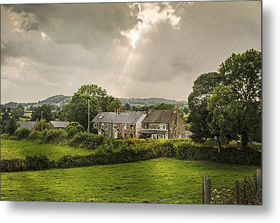 Derbyshire Cottages Metal Print by Amanda And Christopher Elwell