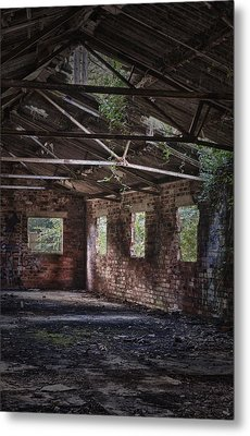 Derelict Building Metal Print by Amanda And Christopher Elwell