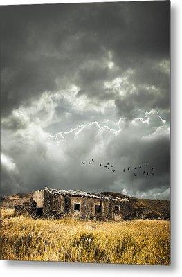 Derelict Rural Building Metal Print by Amanda Elwell