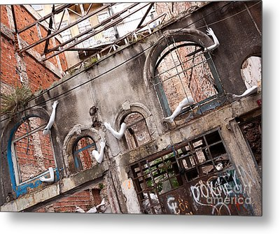 Derelict Wall Of Lost Limbs 01 Metal Print by Rick Piper Photography