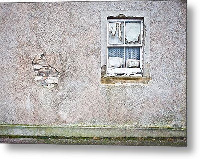 Derelict Window Metal Print by Tom Gowanlock