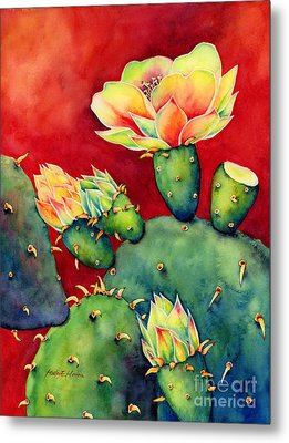 Desert Bloom Metal Print by Hailey E Herrera