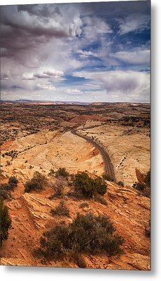 Desert Road Metal Print by Andrew Soundarajan