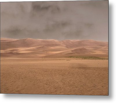 Great Sand Dunes Approaching Storm Metal Print by Dan Sproul