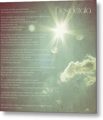 Desiderata Wishes Metal Print by Marianna Mills
