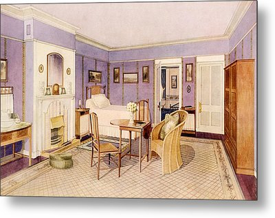 Design For The Interior Of A Bedroom Metal Print by Richard Goulburn Lovell