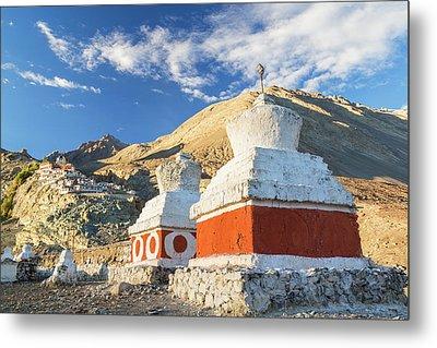 Deskit Monastery, Ladakh, India Metal Print by Peter Adams
