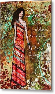 Destiny Inspirational Christian Art Metal Print by Janelle Nichol