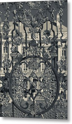 Detail Of The Palace Gate, Catherine Metal Print by Panoramic Images