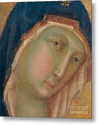 Detail Of The Virgin Mary Metal Print by Duccio di Buoninsegna