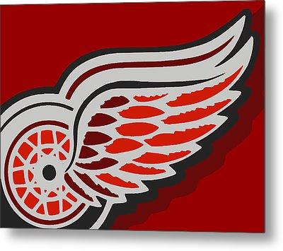 Detroit Red Wings Metal Print by Tony Rubino