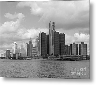 Detroit Skyscape Metal Print by Ann Horn
