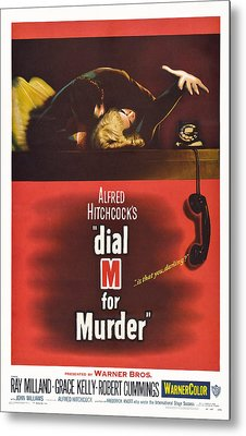 Dial M For Murder, Us Poster, Top Metal Print by Everett