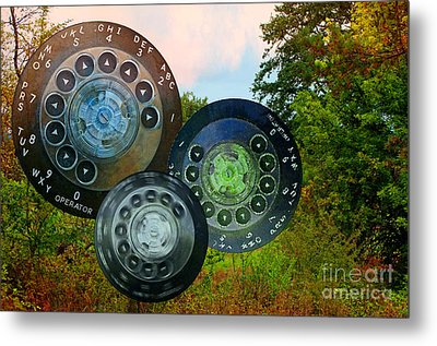 Dialing Up Fall Metal Print by Gwyn Newcombe