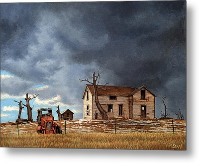 Different Day At The Homestead Metal Print by Paul Krapf