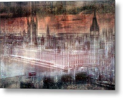Digital-art London Westminster II Metal Print by Melanie Viola