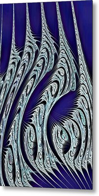 Digital Carvings Metal Print by Anastasiya Malakhova