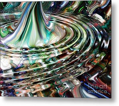 Digital Liquid Metal Print by Cheryl Young