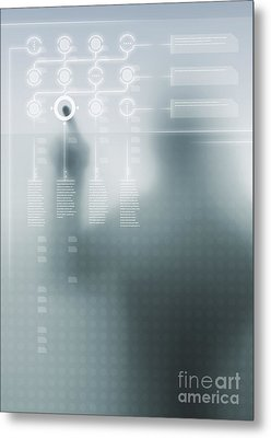 Digital User Interface Metal Print by Carlos Caetano