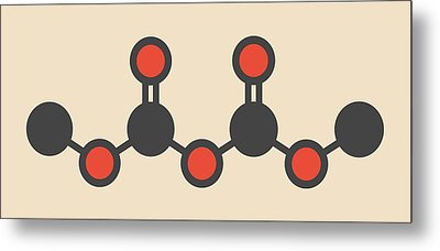 Dimethyl Dicarbonate Molecule Metal Print by Molekuul