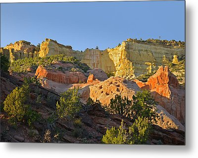 Dine' Tah ' Among The People ' Scenic Road Metal Print by Christine Till