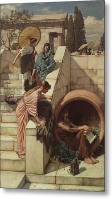 Diogenes Metal Print by John William Waterhouse