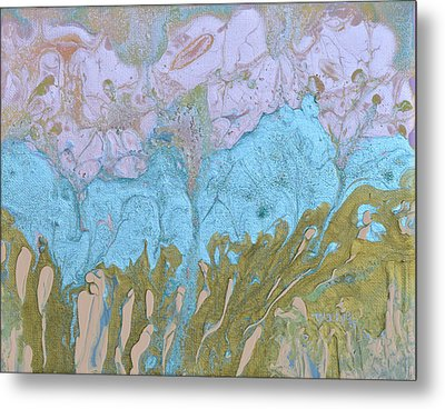 Disappearing In The Mist Metal Print by Donna Blackhall