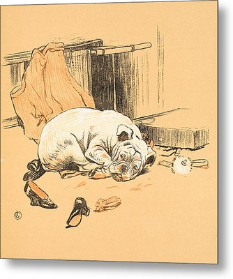 Disappointment At Not Finding The Chocolates Metal Print by Cecil Charles Windsor Aldin