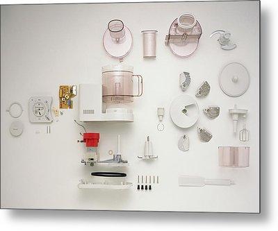 Disassembled Food Processor Metal Print by Dorling Kindersley/uig