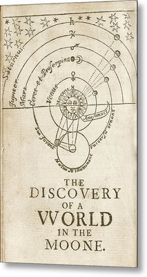 Discovery Of A World In The Moone (1638) Metal Print by Library Of Congress
