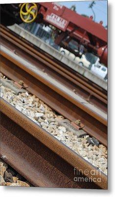 Dismantled Train Station Metal Print by Luis Alvarenga