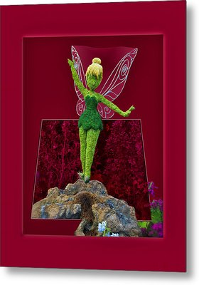 Disney Floral Tinker Bell 01 Metal Print by Thomas Woolworth