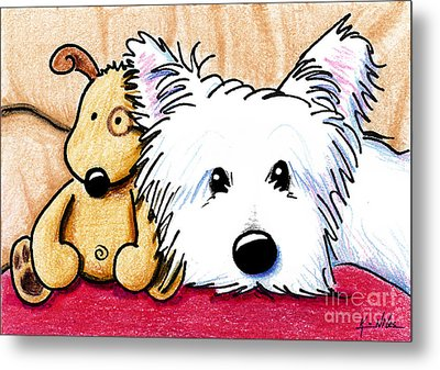 Ditto And Pudge Metal Print by Kim Niles