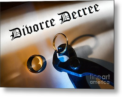 Divorce Decree Metal Print by Olivier Le Queinec