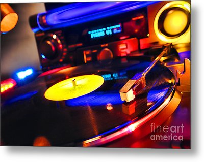 Dj 's Delight Metal Print by Olivier Le Queinec