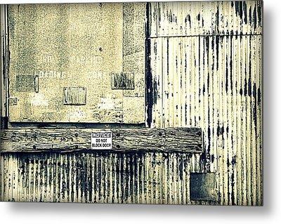 Do Not Block Door Metal Print by Valentino Visentini